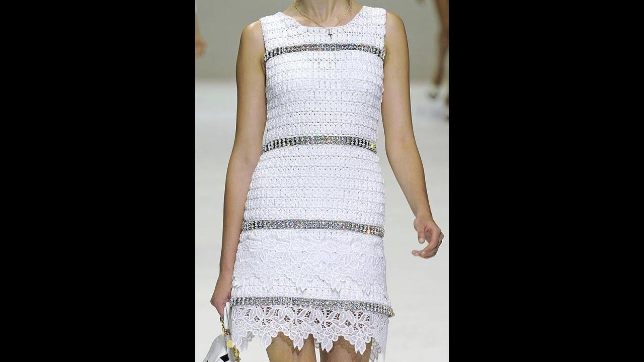Женские платья крючком с подиума