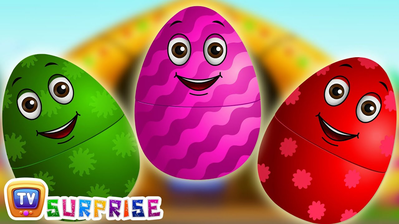 Surprise Eggs Nursery Rhymes | Old MacDonald Had A Farm | Learn Colours & Farm Animals | ChuChu