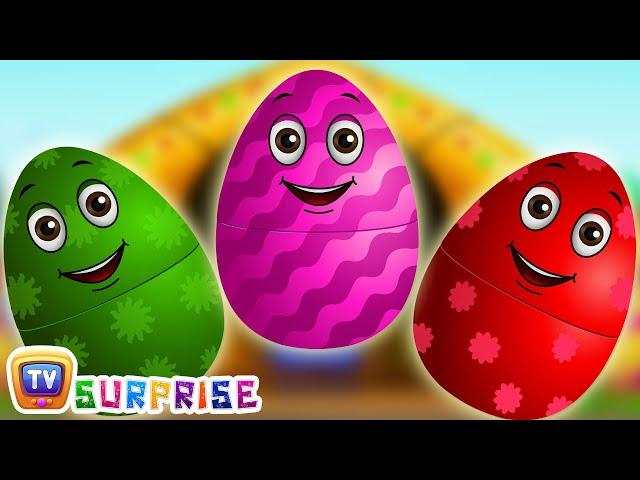 Surprise Eggs Nursery Rhymes   Old MacDonald Had A Farm   Learn Colours & Farm Animals   ChuChu TV