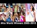 Miss World Winners 2000-2015