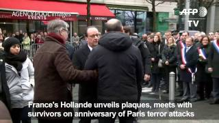 France marks first anniversary of Paris attacks