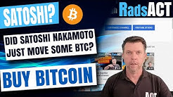 Did Satoshi move some bitcoin? If you don't own crypto watch this video and buy bitcoin soon!