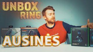 Žaidybinės ausinės iki 100 Eur | Unbox Ring || Laisvės TV X