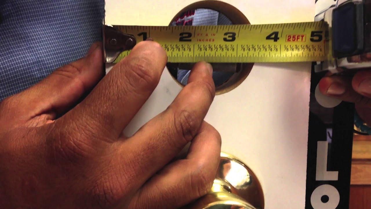 How To Measure Door Hardware Backset Youtube
