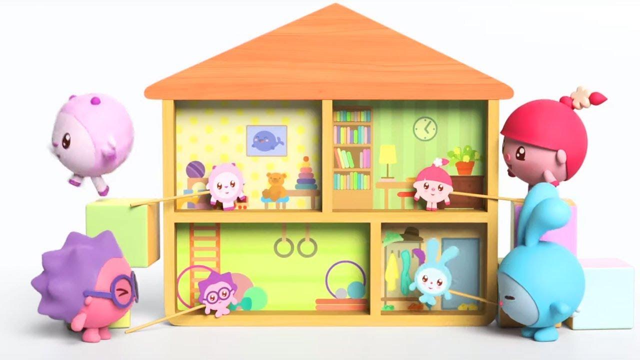 Малышарики - новинка - Кто там? (147 серия) Дом и квартира | Мультики для самых маленьких