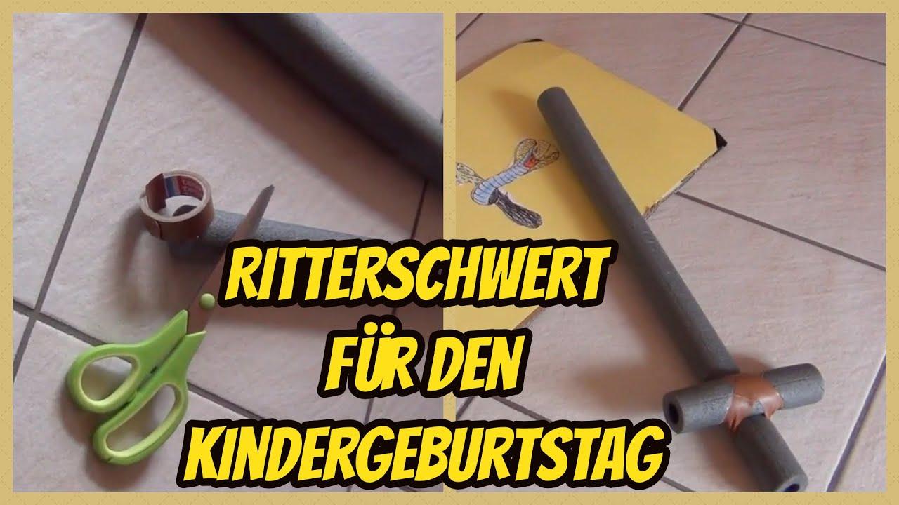 1 2 3 Ein Ritterschwert Basteln Fur Den Kindergeburtstag Youtube