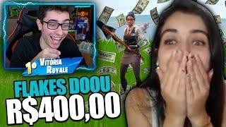 DOEI R$400 PARA ESSA STREAMER DE FORTNITE! ELA NÃO ACREDITOU! thumbnail