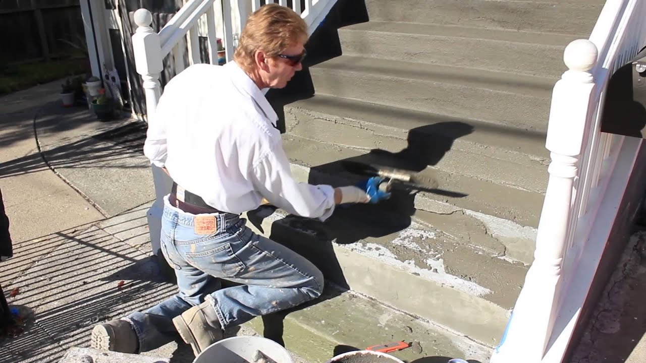 Stucco Acrylics For Slip And Water Proof Wood Stairs Dark