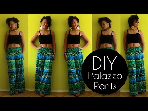 DIY PALAZZO PANTS IN 20MIN | DIY CLOTHES LIFE HACKS