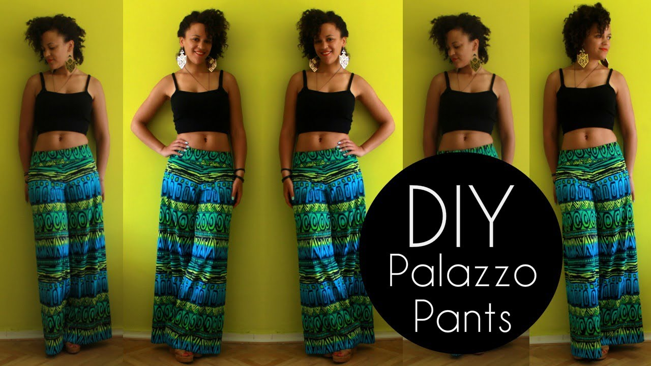 How To Make Palazzo Pants In 20 Min Diy Clothes Youtube