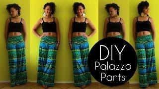 DIY PALAZZO PANTS IN 20MIN | NO SEWING PATTERN | DIY CLOTHES LIFE HACKS