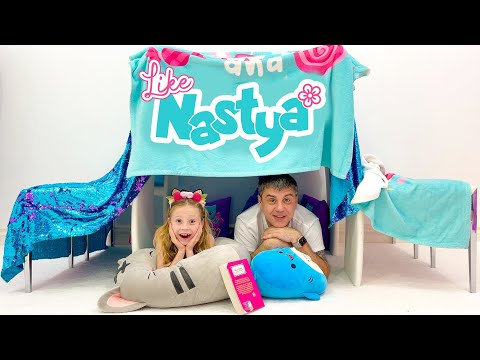 Nastya And Her Dad Are Playing Without Toys