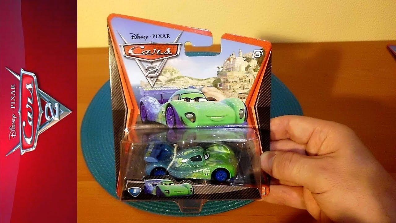 Cars 2 Movie Die Cast Toy No 8 Carla Veloso Rare Auta 2 カーズ2