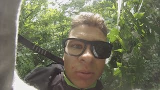 Funny Video: Paraglider Loses Control and Crashes In The Forest