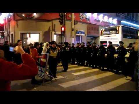 China's Police State: Shanghai Soldier Blockade