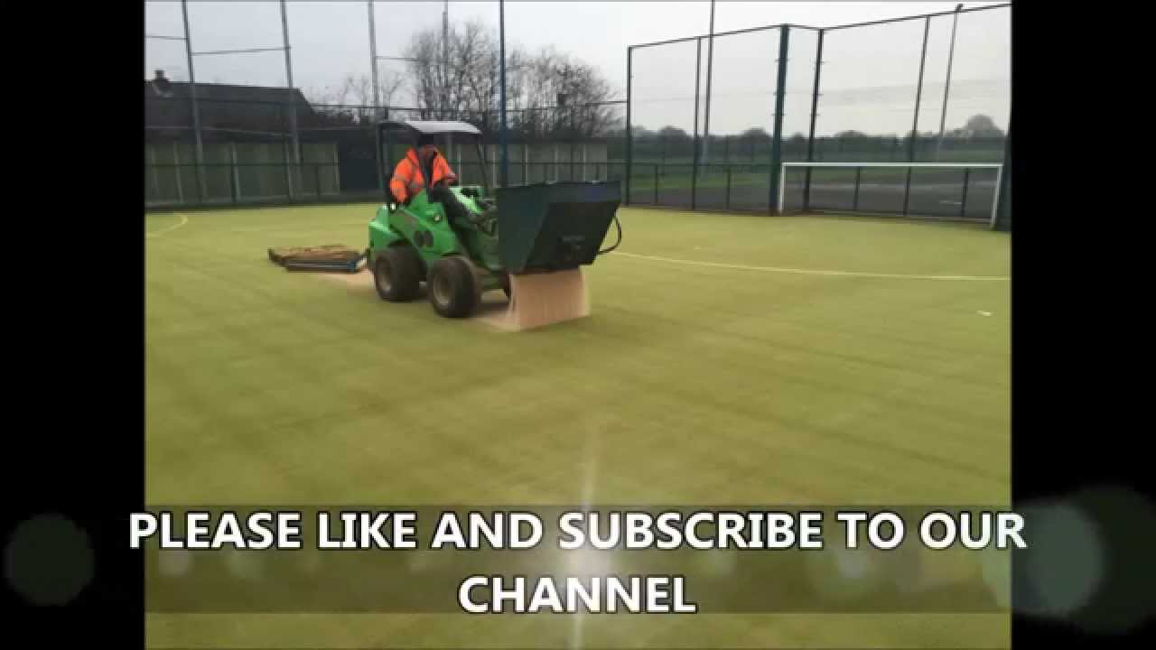 Sports Pitch Maintenance - Clean New Silica Sand Installed