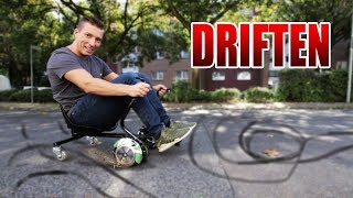 MIT EINEM HOVERBOARD DRIFTEN? | Hoverkart Drift Kart Review - Test [Deutsch/German]