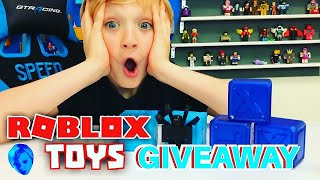 #ROBLOXTOYS Unboxing more Blind Box/ Mystery Boxes and Toy Giveaway + SHOUTOUTS FOR FREE CODES