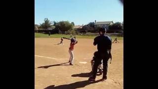8 Year Old Jamonte Pitching & Playing Baseball