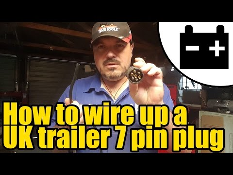 How To Wire Up A UK Trailer Lighting Plug #1947