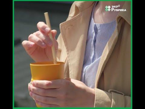 Вместо пластиковых: в Украине делают трубочки для напитков из стеблей ржи и камыша
