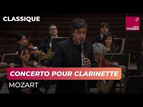 Mozart : Concerto pour clarinette et orchestre joué par Patrick Messina