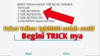 Trik Terbaru!! Cara Daftar paket yellow 1 gb 1000 Indosat Ooredoo