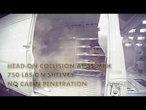 Van Crash Test: Partition Keeps Driver Safe