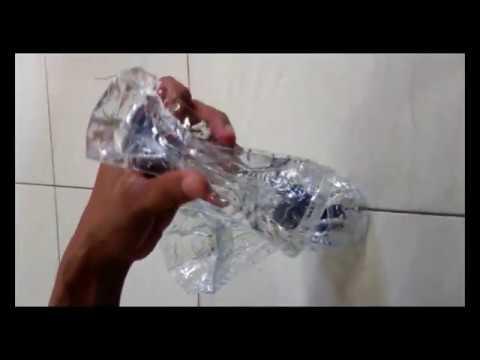 ASBAK CANTIK... Asbak dari botol plastik aqua (Part2)  / ashtray out of plastic bottles