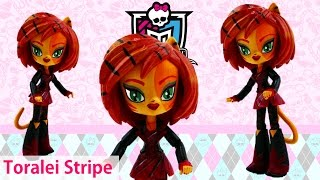 DIY Monster High Toralei Stripe My Little Pony Minis Custom Doll Tutorial | Evies Toy House