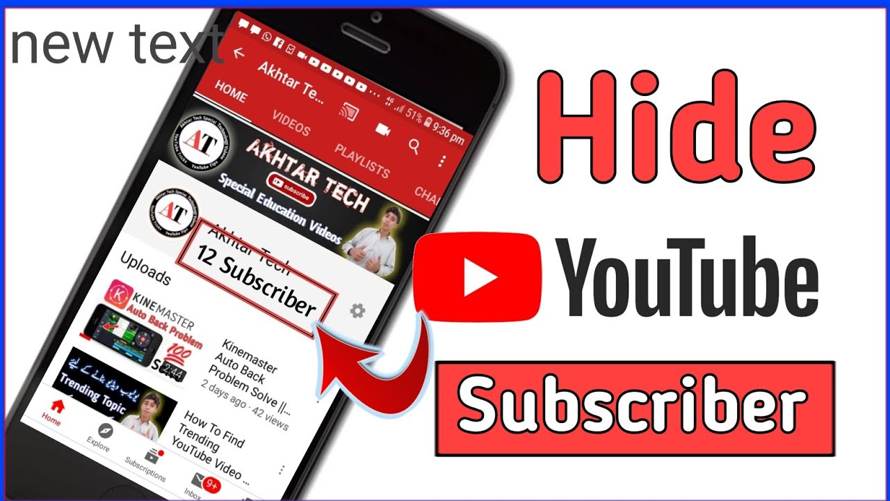 How To Hide YouTube Channel Subscriber || Hide Subscriber || Subscriber kaise chopaen || Akhtar Tech
