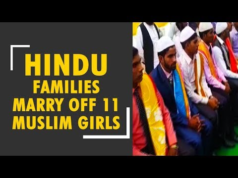 Hindu families conduct marriage for underprivileged Muslim girls