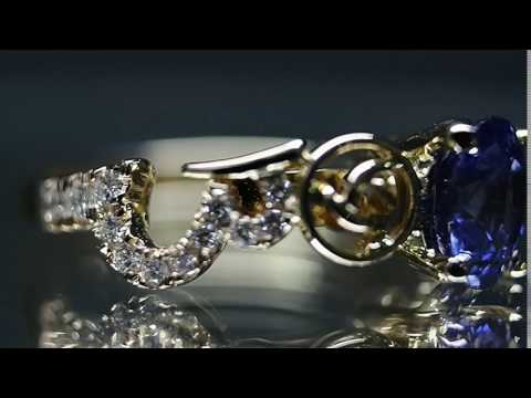 Fine Jewelry Custom Made Blue Sapphire Ring