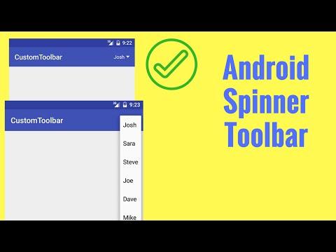 Android Spinner Toolbar Tutorial