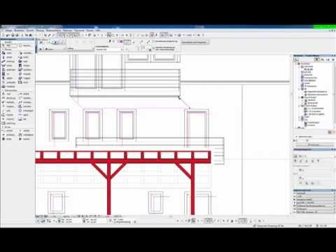 archicad 15 workflow 01 bauantrag carport layout und pdf print youtube. Black Bedroom Furniture Sets. Home Design Ideas