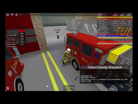 Roblox|Tulsa Fire Department Call out|Game Play