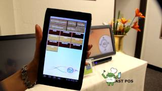 Android tablet pos demo from amber systems technologies. the pioneer in restaurant with linux integrated. http://www.facebook.com/pages/ast-pos/252585258...
