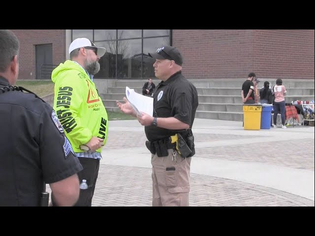 Preacher THREATENED w/FELONY CHARGES While Preaching at UC-Denver (Public Campus) - Kerrigan Skelly