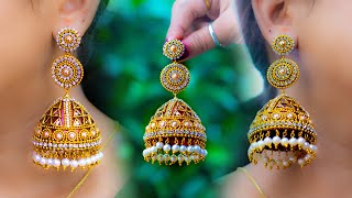 Partywear Jhumka | Paper Jhumka | New idea | DIY | hand made jewelry | Art with Creativity