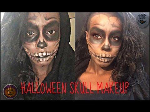 HALLOWEEN SKULL MAKEUP FOR DARK SKIN// Trucco Halloween per pelle nera(Low Budget)// Bglvm