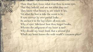 Sonnet 137: Thou blind fool, Love, what dost thou to mine eyes