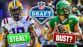 5 NFL Draft Prospects In 2020 that Could Be BUSTS.. and 5 that Could be MAJOR STEALS