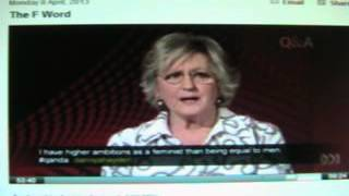 Q and A - Germaine Greer  Feminism no long about equality