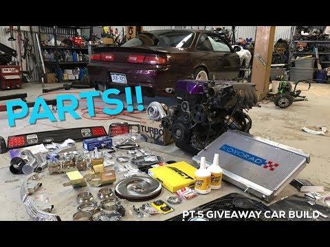Pt.5 | Project Build Giveaway | 2JZ Swap Nissan 240sx | PARTS! / R154 Install!