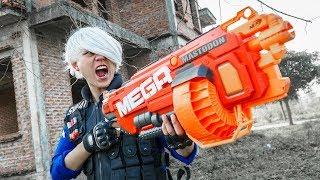 LTT Game Nerf War : Winter Warriors SEAL X Nerf Guns Fight Crime Group Rocket Armed Police