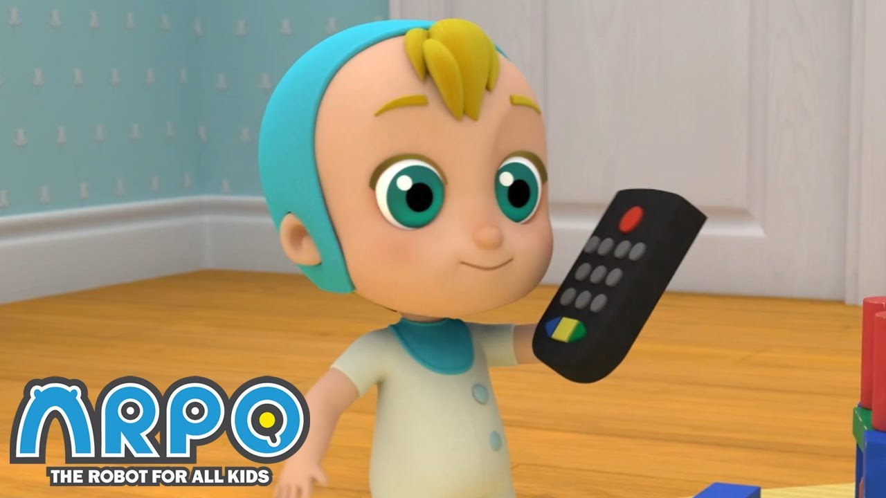Arpo the Robot | EVIL CONTROLLING BABY! | Funny Cartoons for Kids | Arpo and Daniel