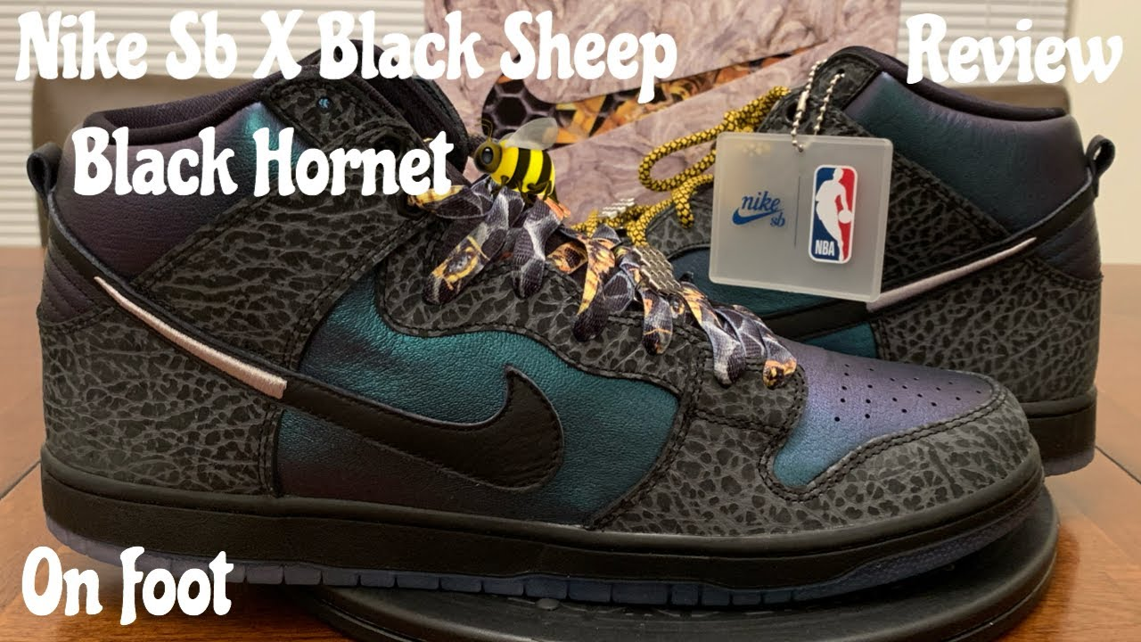 official photos 397c0 2c2a2 Black Sheep Nike Sb Dunk High Black Hornet Unboxing, Pickup Vlog, Detailed  Review   On Foot.