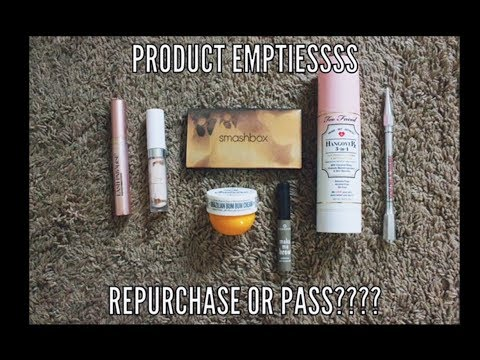 PRODUCT EMPTIES - REPURCHASE OR PASS?? | Anna Hathcock thumbnail
