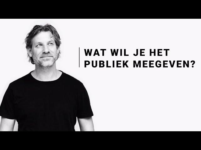 Wat wil je het publiek meegeven? - Martijn Aslander