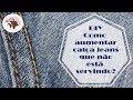 DIY - Como aumentar calça jeans que não serve mais - Curso de Corte e Costura - Passo a Passo